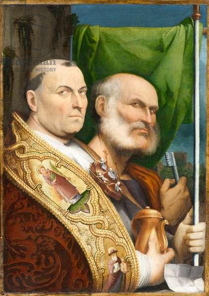 St. Prosdocimus and St. Peter, circa 1515-1517 (oil on poplar panel, mounted on plywood panel)