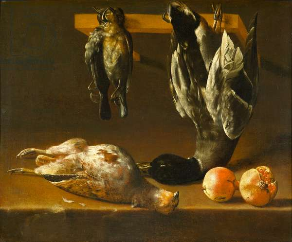 Still Life with Fowl and Pomegranates, c.1620-1640 (oil on canvas)