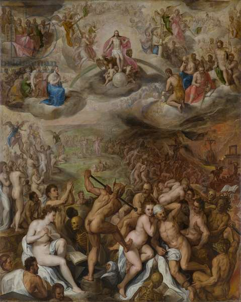 The Last Judgment, 1573 (oil on cradled panel)