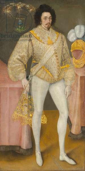 Portrait of a Man, possibly Sir Edward Stafford (1552-1605), circa 1590 (oil on canvas)