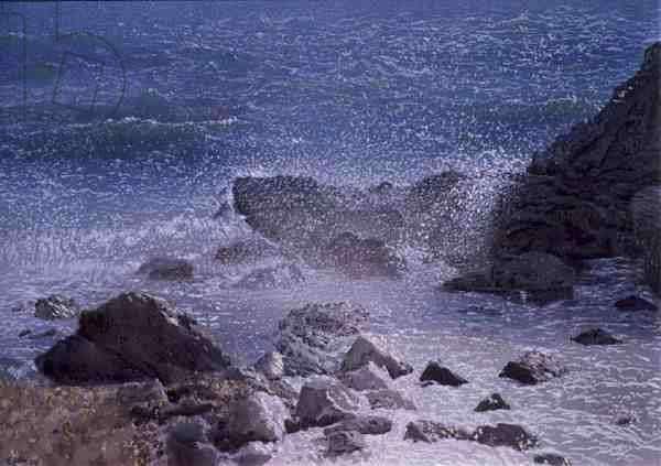 Winter Sea, Asine, 1998 (w/c and pastel on handmade paper)