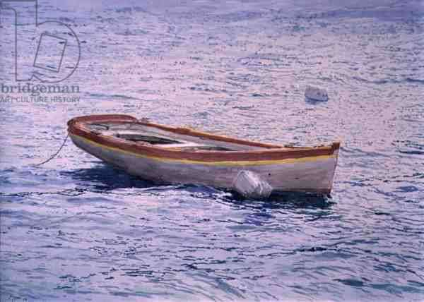 Dinghy, 1996 (w/c and pastel on handmade paper)