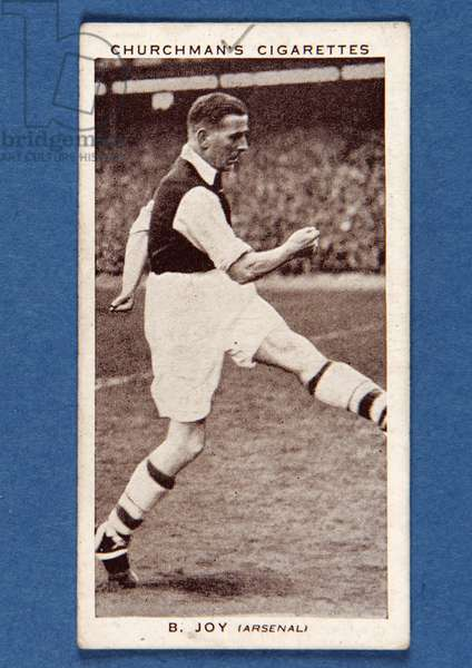 B.Joy (Arsenal), no.26, from the 'Association Footballers Second Series' of 'Churchman's Cigarettes' cards (litho)