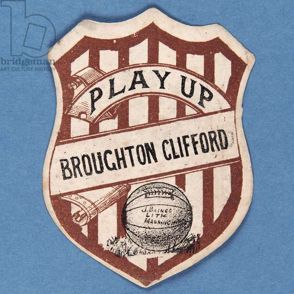 Play Up Broughton Clifford (colour litho)