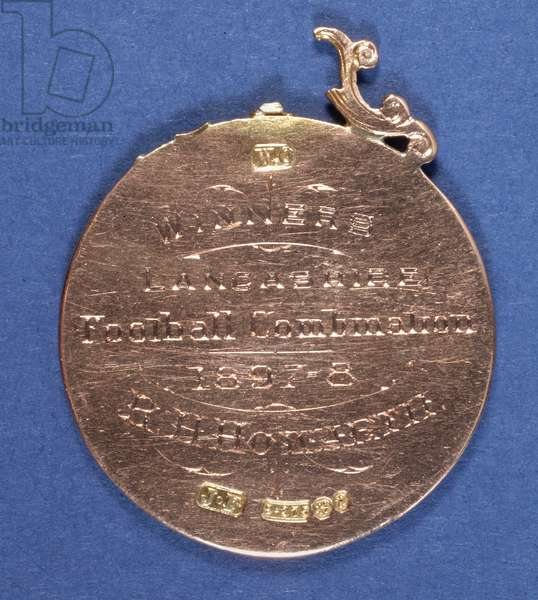 Reverse of a Preston North End Football Club medal, 1897-98 (metal) (see also 315000)