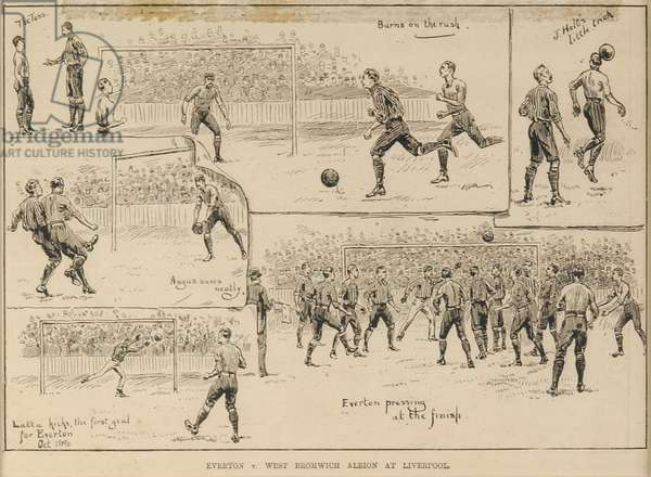 Everton v. West Bromich Albion at Liverpool (woodcut)