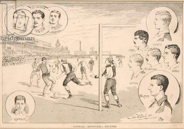 Football - Ironopolis v. Stockton, 1892 (woodcut)