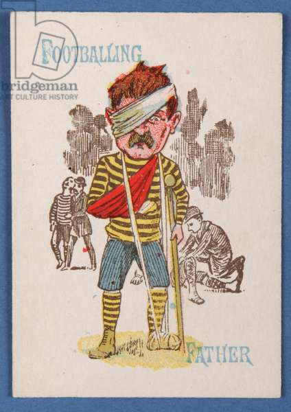 Footballing Father, card from a Happy Families game, c.1890-1900 (colour litho)