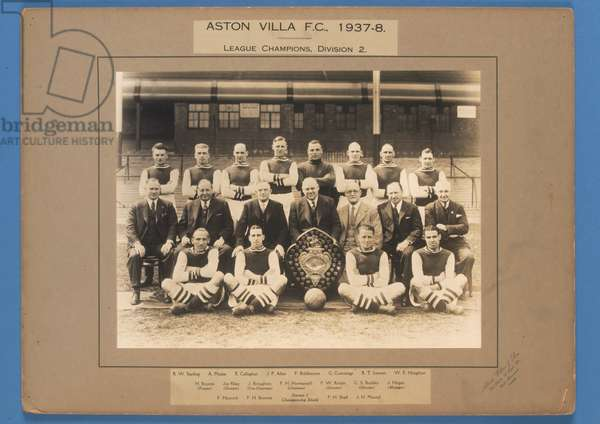 Aston Villa F.C., 1937-38, League Champions, Division 2 (b/w photo)