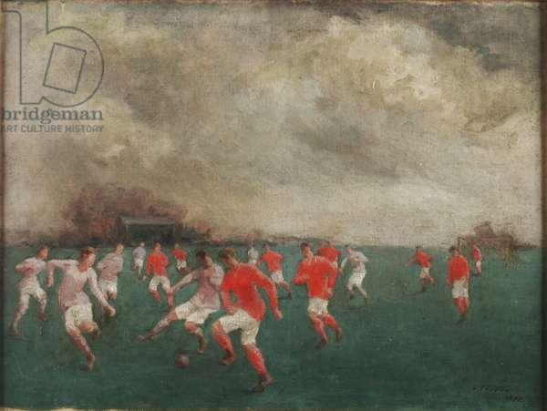 A Soccer Match, 1920 (oil on canvas)