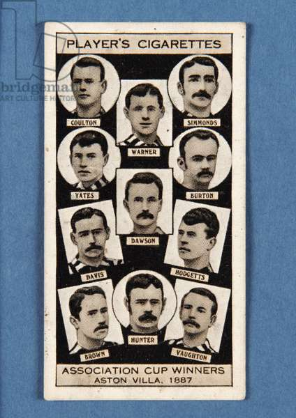 Aston Villa, 1887, no.8 from the 'Association Cup Winners' series of 'Player's Cigarettes' cards (litho)