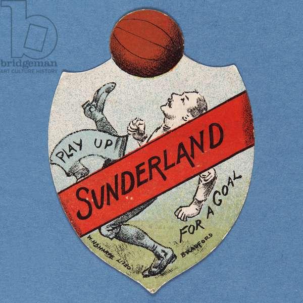 Play Up Sunderland for a Goal (colour litho)