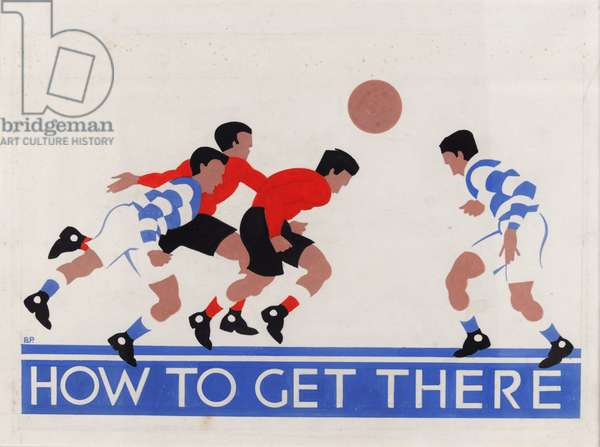'How to Get There', London Underground poster (colour litho)