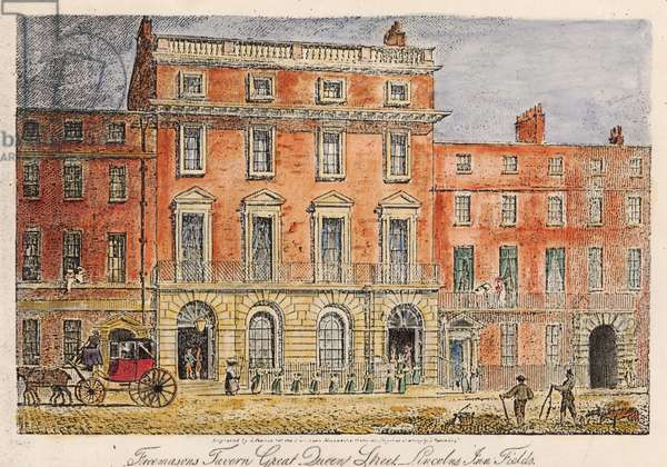 The Freemason's Tavern, 1863 (colour litho)
