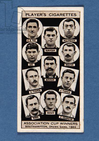 Southampton, Drawn Game, 1902, no.24 from the 'Association Cup Winners' series of 'Player's Cigarettes' cards (litho)