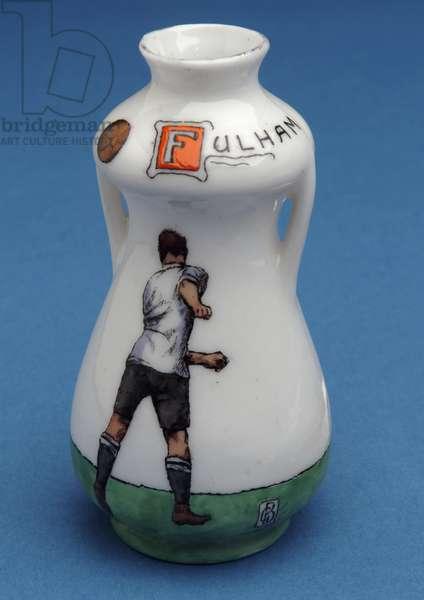 Fulham Football Club souvenir in the shape of a miniature urn (ceramic)