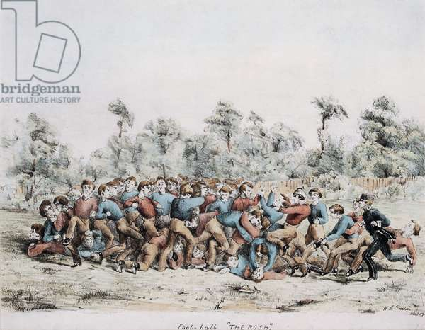 Foot-ball, The Rosh, 1857 (colour litho)