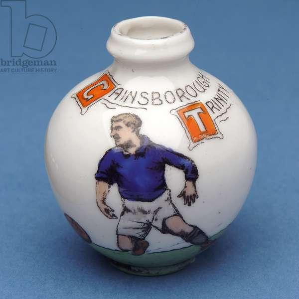Gainsborough Trinity Football Club souvenir in the shape of a miniature urn (ceramic)
