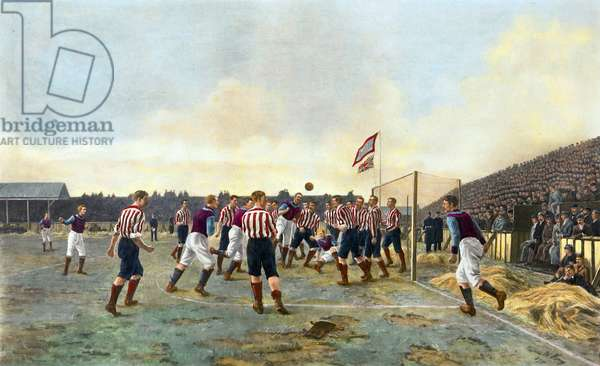 Aston Villa v Sunderland, 1893 (colour litho)