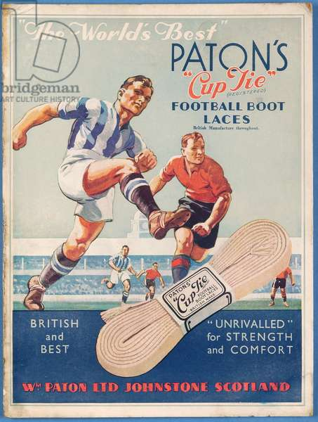 'The World's Best', poster advertising Paton's Cup Tie Boot Laces (colour litho)