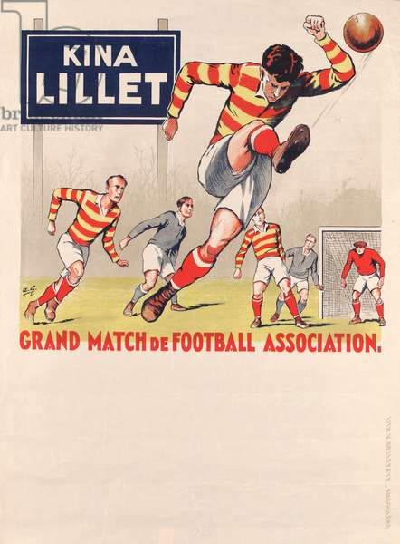 French Football Poster (colour litho)