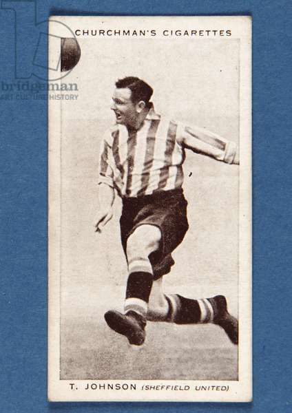 Thomas Johnson, no.26, from the 'Association Footballers Second Series' of 'Churchman's Cigarettes' cards (litho)