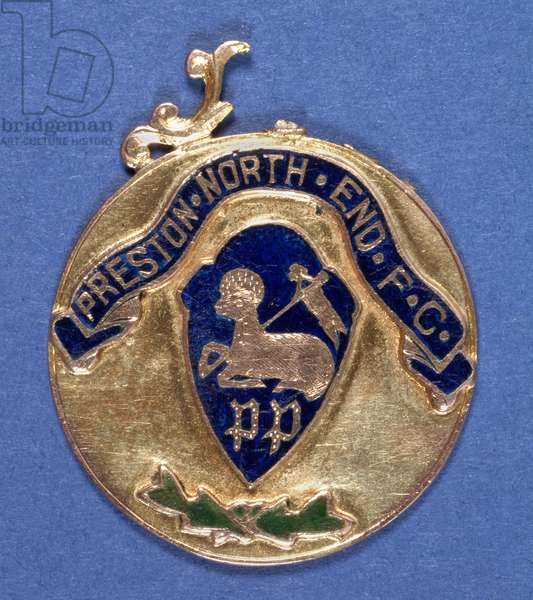 Preston North End Football Club Medal, 1897-98 (metal) (see also 315001)
