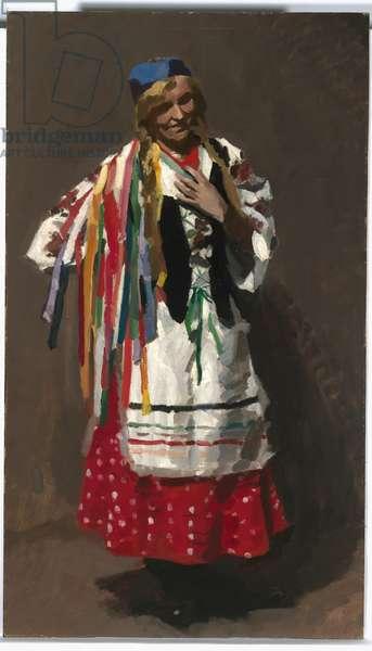 Poland (Madame de Tarczynska) 1917 (oil on canvas on composition board)