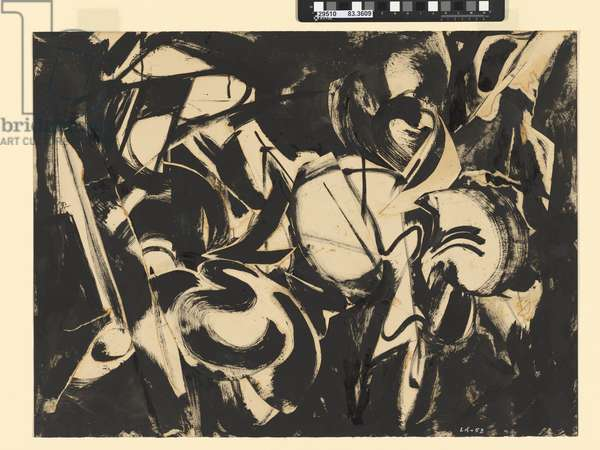 Untitled, 1953 (oil, collage & gouache on paper)