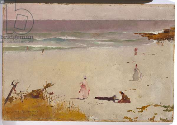Bronte Beach, 1888 (oil on paper on cardboard)