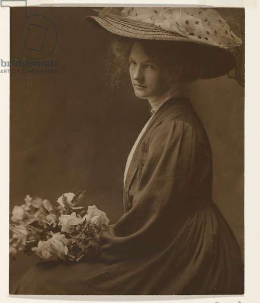 Mary Peisley, c.1906 (sepia toned gelatin silver photo)