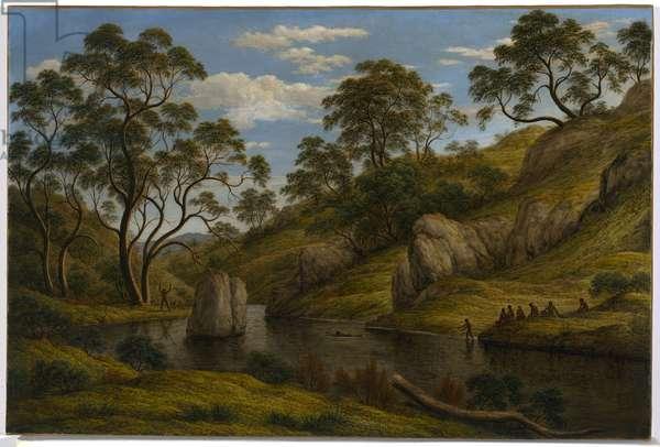 The Bath of Diana, Van Diemen's Land, 1837 (oil on canvas)