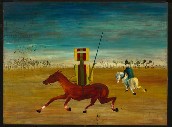 The Chase, 1946 (enamel on composition board)