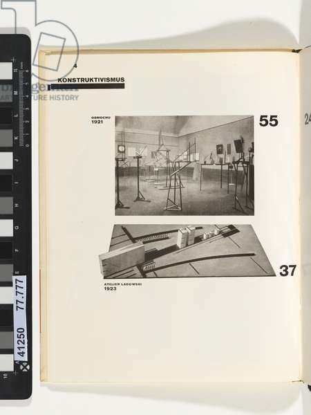 P.4 from Die Kunstismen 1914-1924 [The Isms of art 1914-1924] 1925 (lineblock, printed in black and red ink; letterpress)