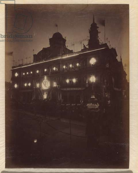 Electric light decorations for Federation celebrations, Sydney, 1901 (albumen silver photo)