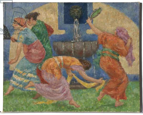 The Fountain of Venus, c.1921 (oil on canvas)