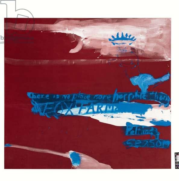 Fox Farm Painting I, 1989 (oil, gesso on velvet)