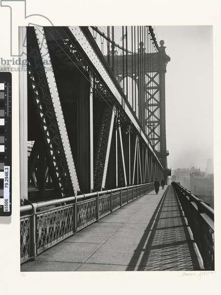 Manhattan Bridge, 1936 (gelatin silver photo)