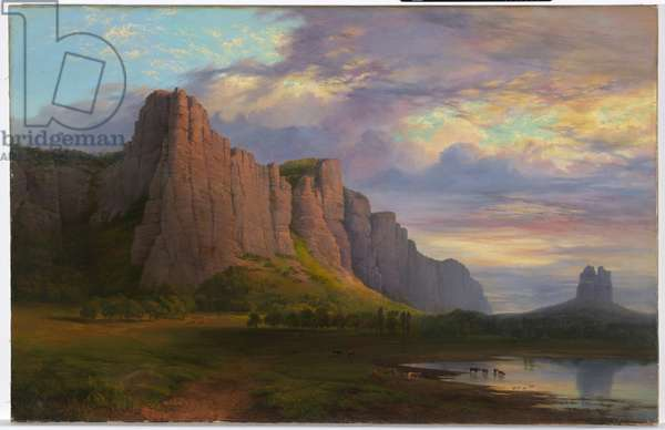 Mount Arapiles and the Mitre Rock, 1863 (oil on canvas)