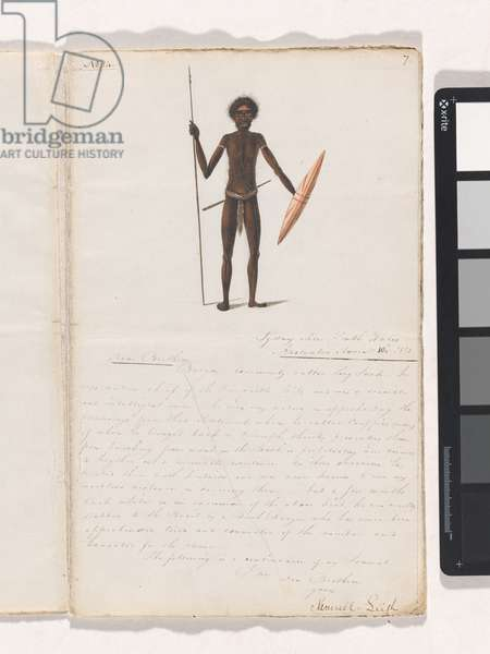 Burgon - commonly called Long Jack, page from a manuscript by Samuel Leigh addressed to the Wesleyan Missionary Society, 1821 (pen & ink on paper)