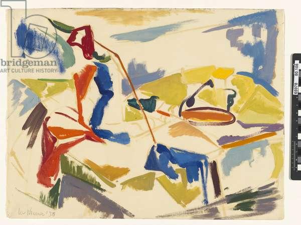 Still Life, 1938 (oil on paper)