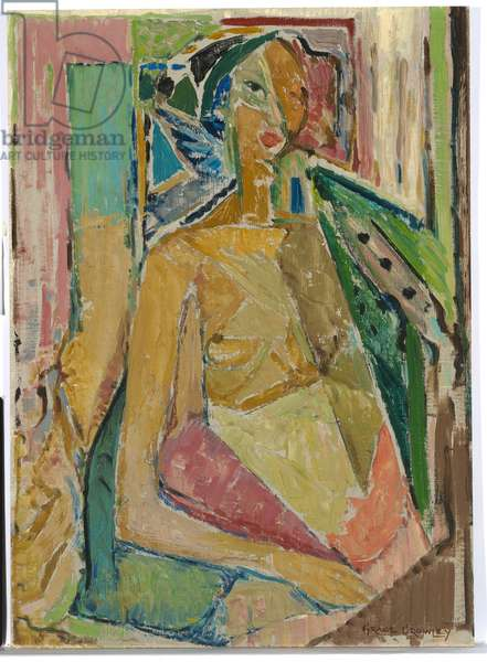 Woman (Annunciation) c.1939 (oil on canvas on composition board)