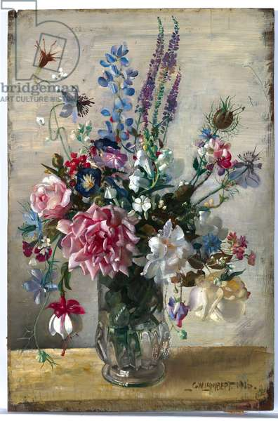 A Garden Bunch, 1916 (oil on wood panel)