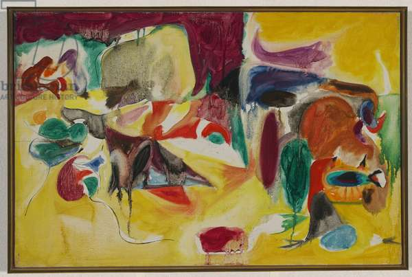 Untitled, 1944 (oil & pencil on canvas)