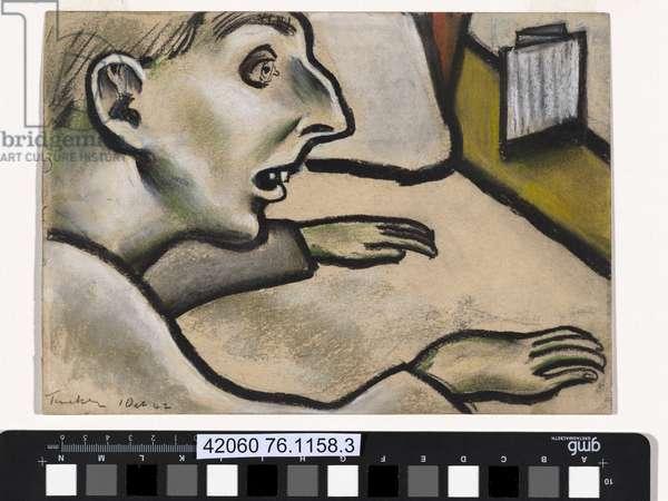 Psycho, 1942 (pastel on paper)