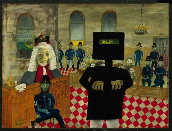 The Trial, 1947 (enamel on composition board)