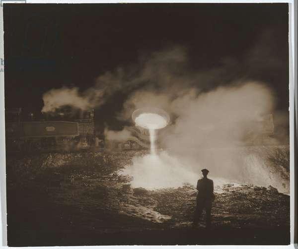 Slag dump, Newcastle, 1934 (gelatin silver photo)