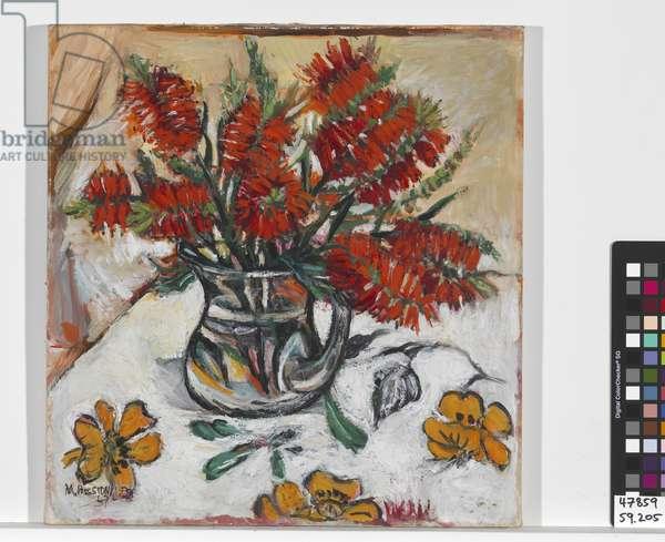Floral arrangement (oil on canvas)