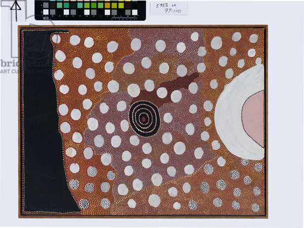 Sunrise chasing away the night, Pintupi People, 1977-78 (synthetic polymer paint on composition board)
