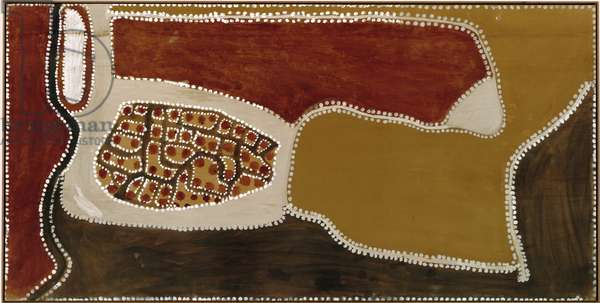 Kalumpiwarra, no. 1, 1984 (natural pigments & binders on plywood)
